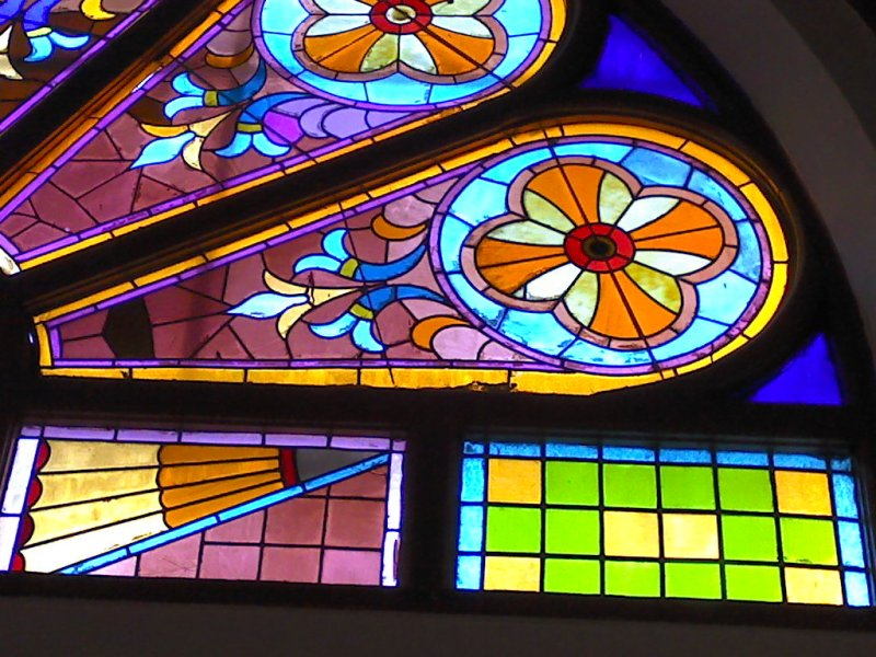 St Timothy Missionary Baptist Church Azure Stained Glass